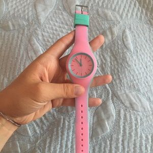 Pink/turquoise Silicon Watch 🦄
